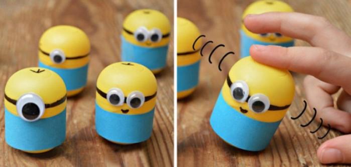 manualidad minios huevos