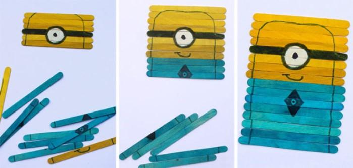 manualidad puzzle minions