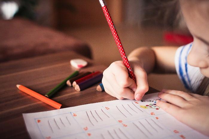 niños estudian en verano