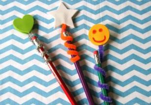 Manualidades con niños: Lápices decorados para la vuelta al cole