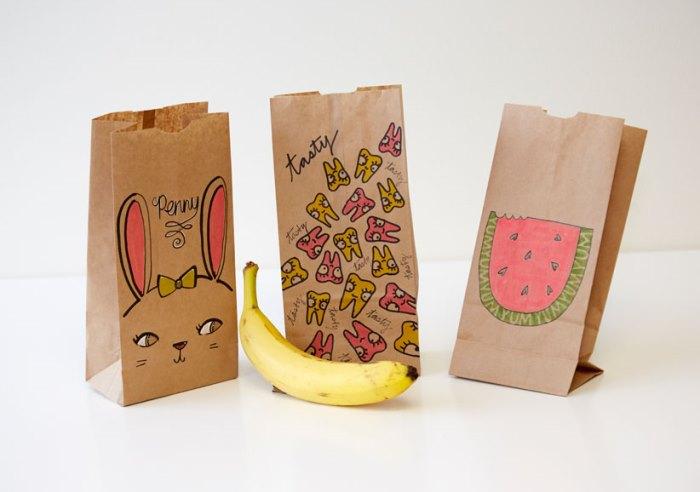 bolsas de papel para el almuerzo