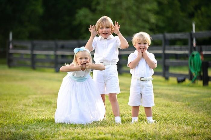 vestir a los niños boda