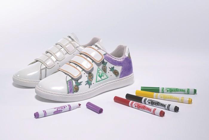 Regalos originales: Zapatillas de diseño propio con Le Coq Sportif y Crayola