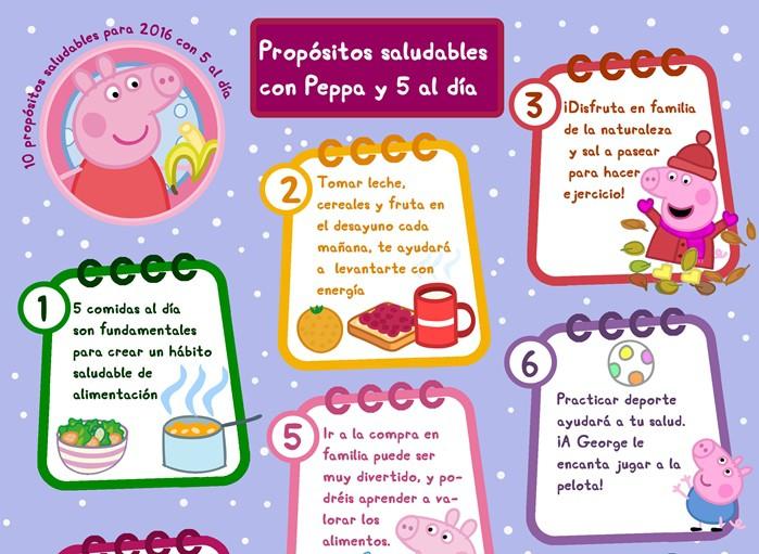 propositos invierno Peppa Pig