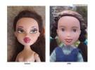 Estas muñecas han sido transformadas para tener un aspecto más infantil