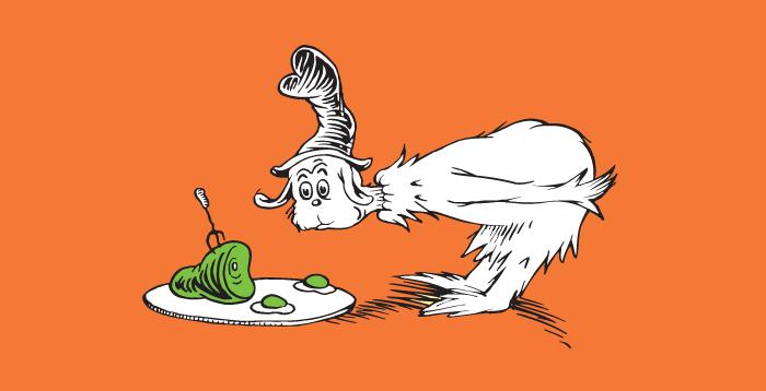 libro: huevos verdes con jamon