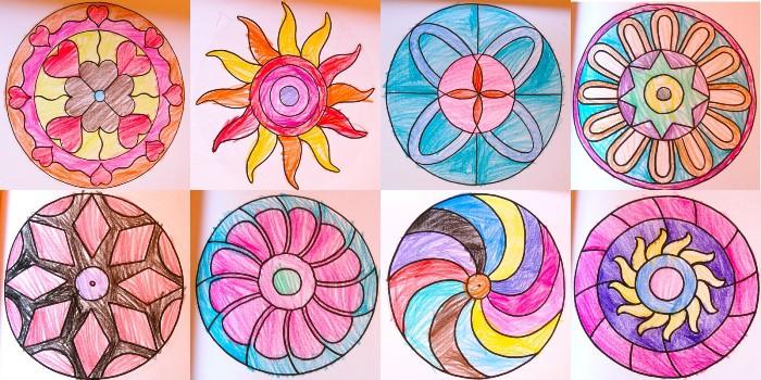 pintar mandalas con los niños