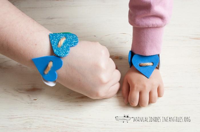 pulseras de corazón