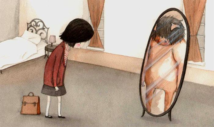 libro: la niña y el monstruo