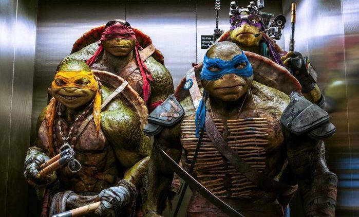 Ninja turtles fuera de las sombras