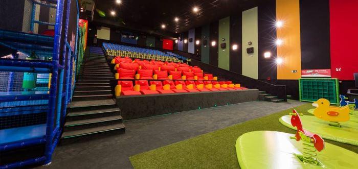 sala de cine exclusiva para niños