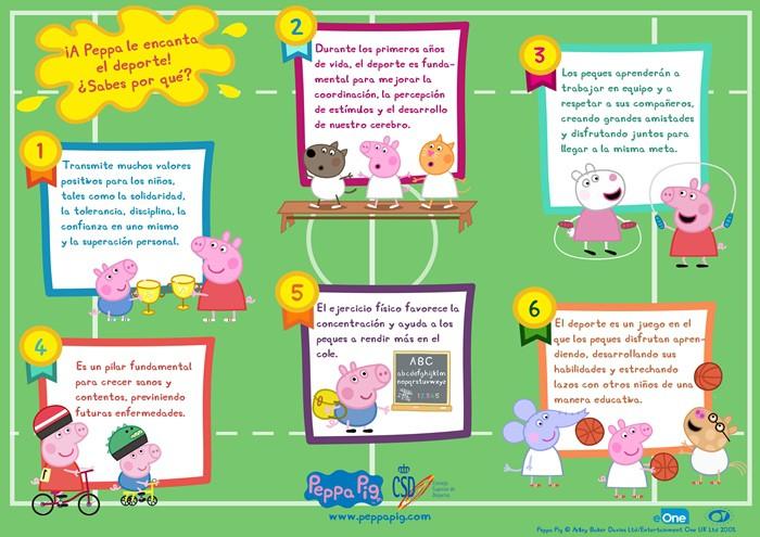 Peppa Pig y el deporte
