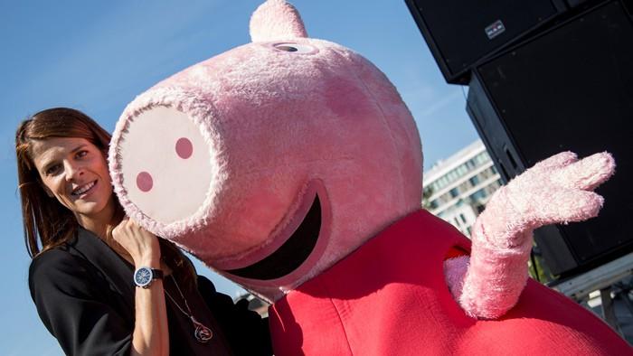 Ruth Beitia con Peppa Pig