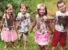 Los niños se ensucian como parte de su aprendizaje