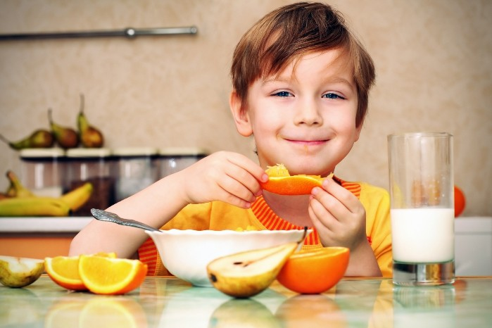 el desayuno de los niños españoles