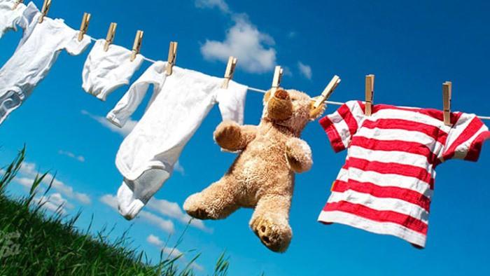 ropa lavada del bebé