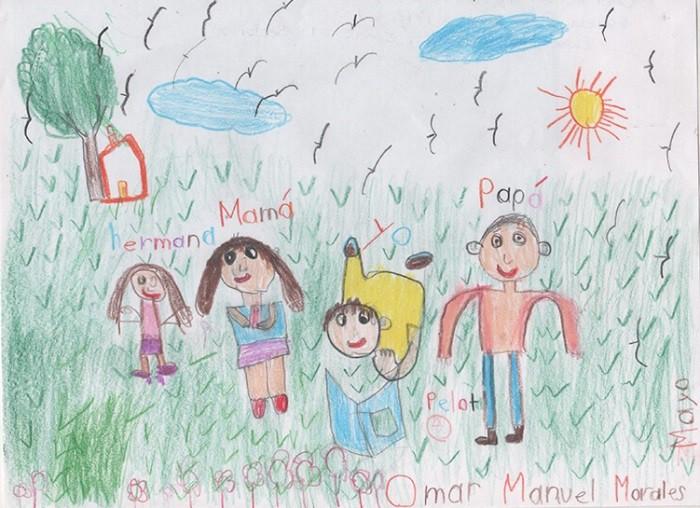 dibujos infantiles la familia