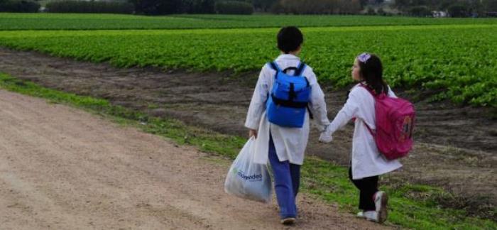escuela rural y niños