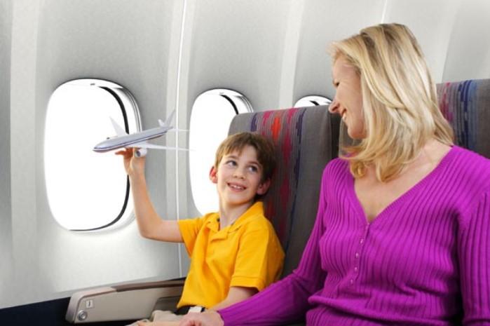 viajar con niños en avion