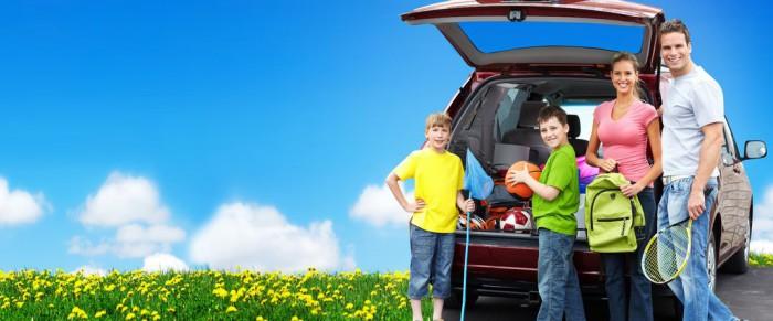 familia en vacaciones