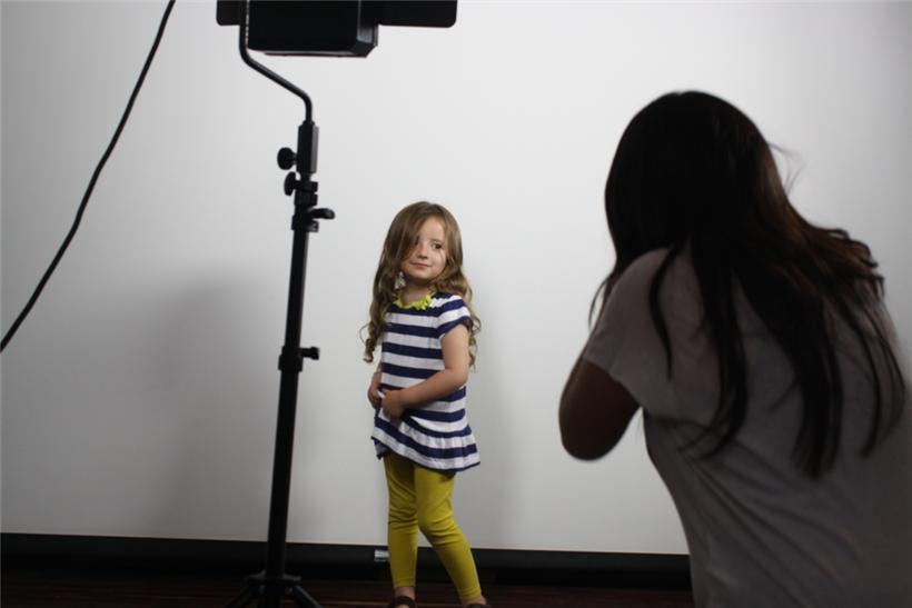 Casting de moda infantil en El Corte Inglés de A Coruña