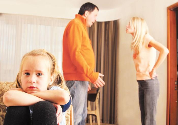 discusiones delante de los hijos