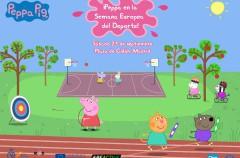 Peppa Pig, Capitana en la inauguración de la Semana Europea del Deporte en Madrid