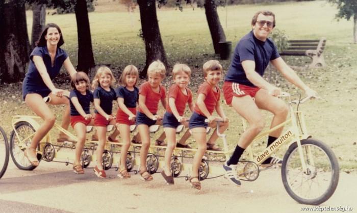 familia numerosa en bici
