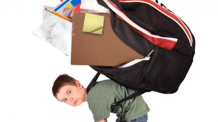 peso en las mochilas escolares
