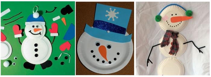 Muñecos de Nieve con platos desechables