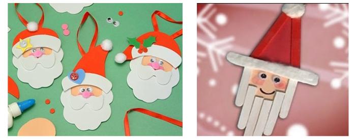 Papá Noel con goma eva y palitos helado