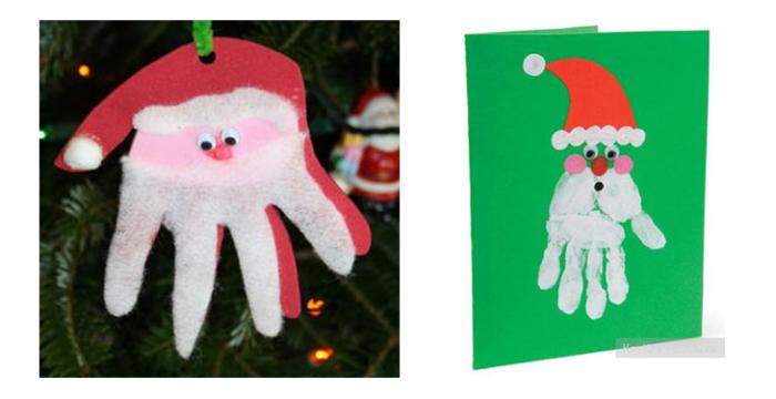 Papá Noel con huellas