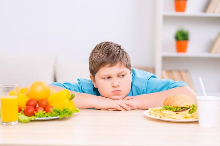 Niño obeso y alimentación