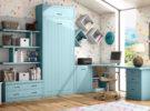 Camas abatibles, la solución a los problemas de espacio en dormitorios juveniles