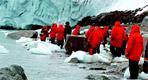 Turistas en la Antártida