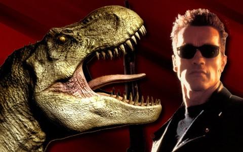 Dinosaurio y Terminator