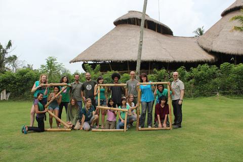 Escuela ecológica en Bali