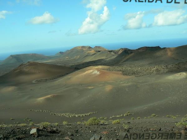 El Parque Nacional de Timanfaya es un ejemplo de paisaje volcánico