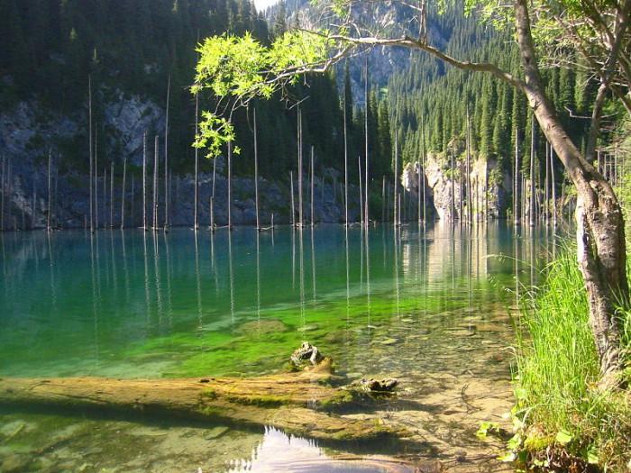 El lago Kaindy, toda una maravilla de Kazajstán