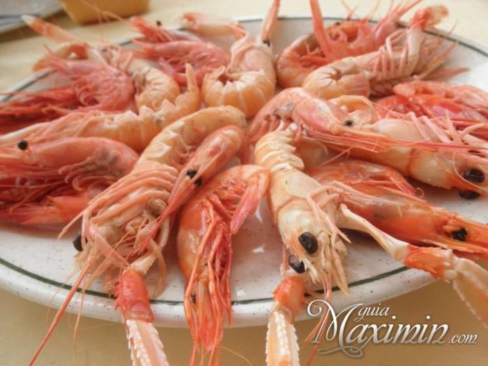 marisco del menú antiguo