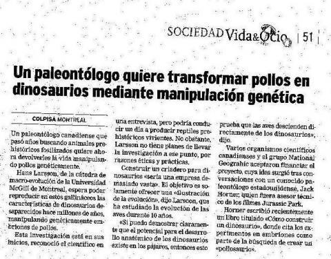 POLLOS DINOSAURIOS.