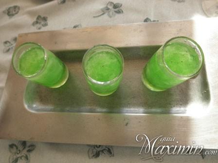 refresco de hierbabuena