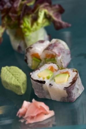 salmon spring roll