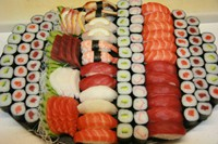 Bandeja presentación catering sushi de Summa