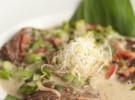Solomillo de buey al curry verde