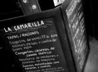 La Camarilla, detalle pizarra