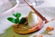 Tarta fina de manzana (al estilo de El Olivo con helado de almendras y canela), Surtopía