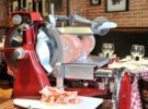 Cortadora de fiambre prfesional.Restaurante Brucculino.