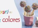 Recetas con niños: trufitas blancas, rosas y multicolores