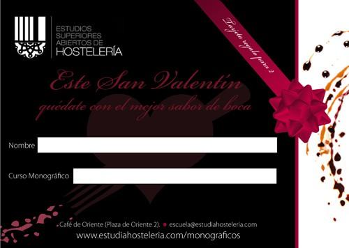 1Bono regalo SAN VALENTIN WWW.ESTUDIAHOSTELERIA.COM